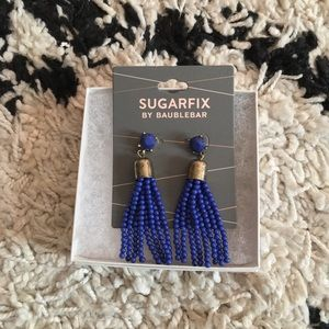 NEW Sugarfix by Baublebar Blue Tassel Earrings